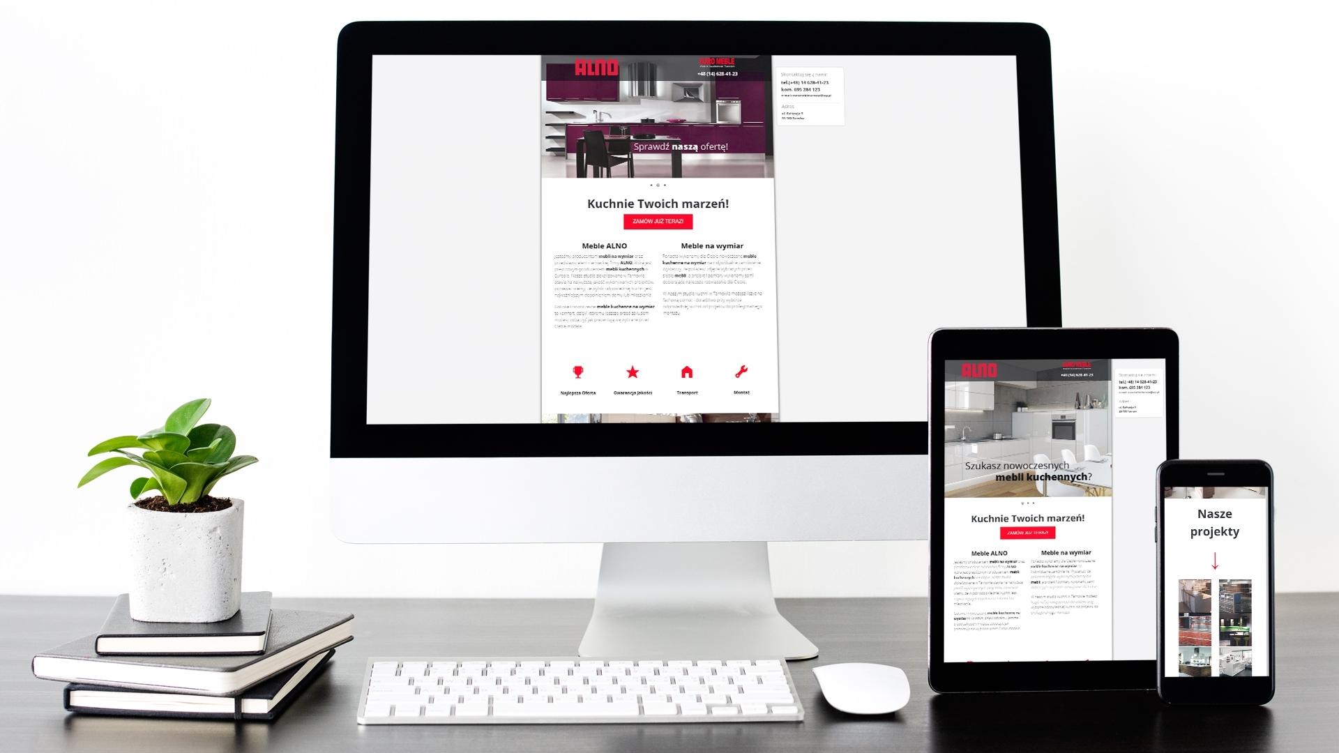 Strona internetowa dla Alno Tarnów