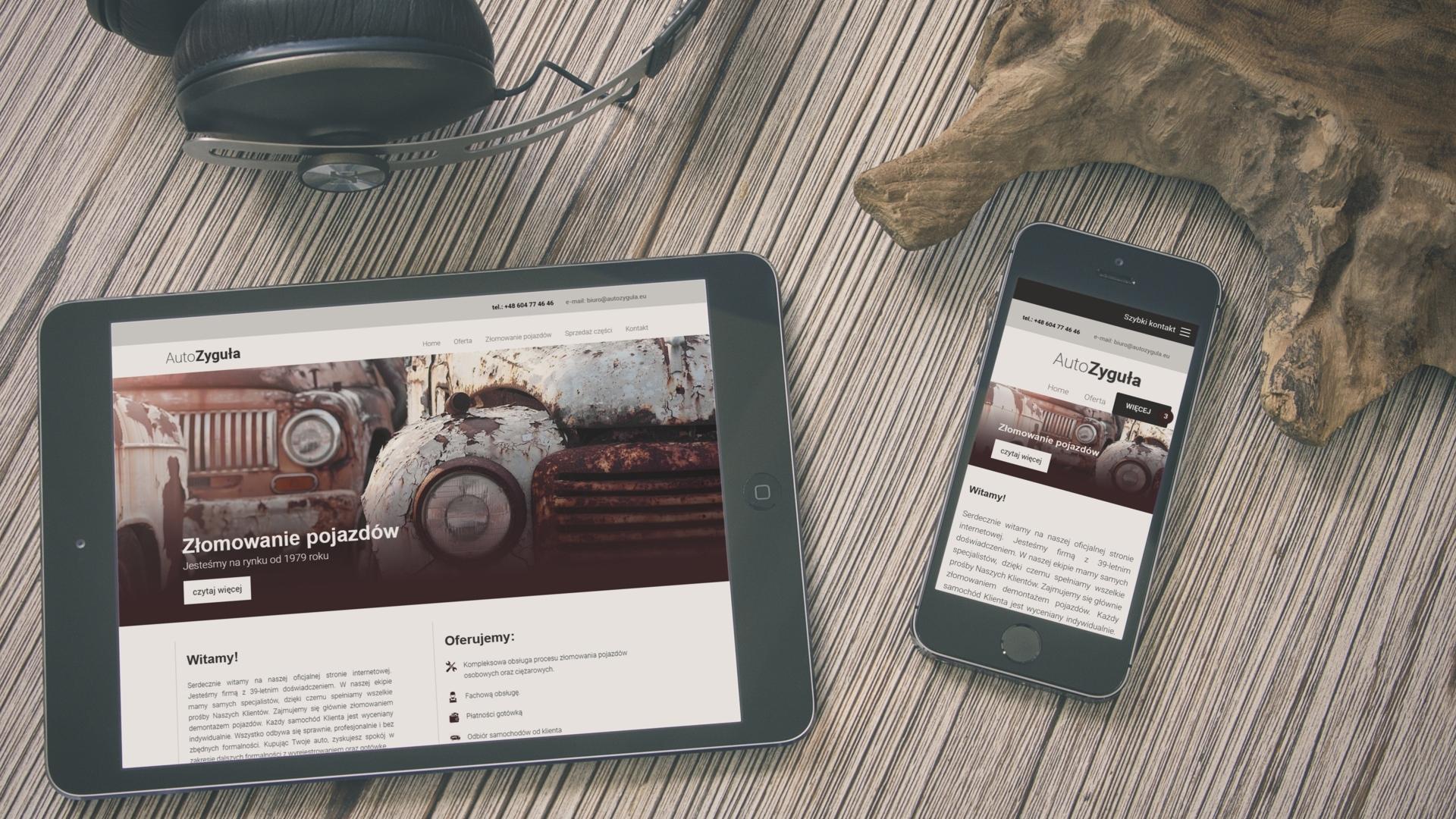 Strona internetowa dla Auto-Zygula