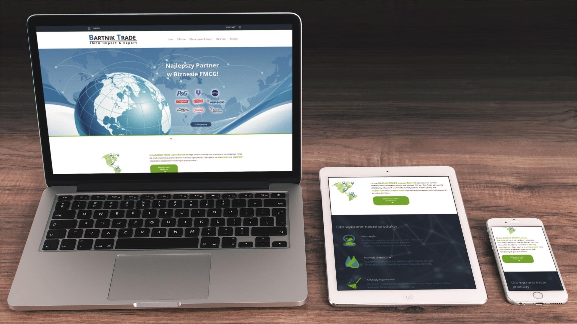 Strona internetowa dla Bartnik-Trade
