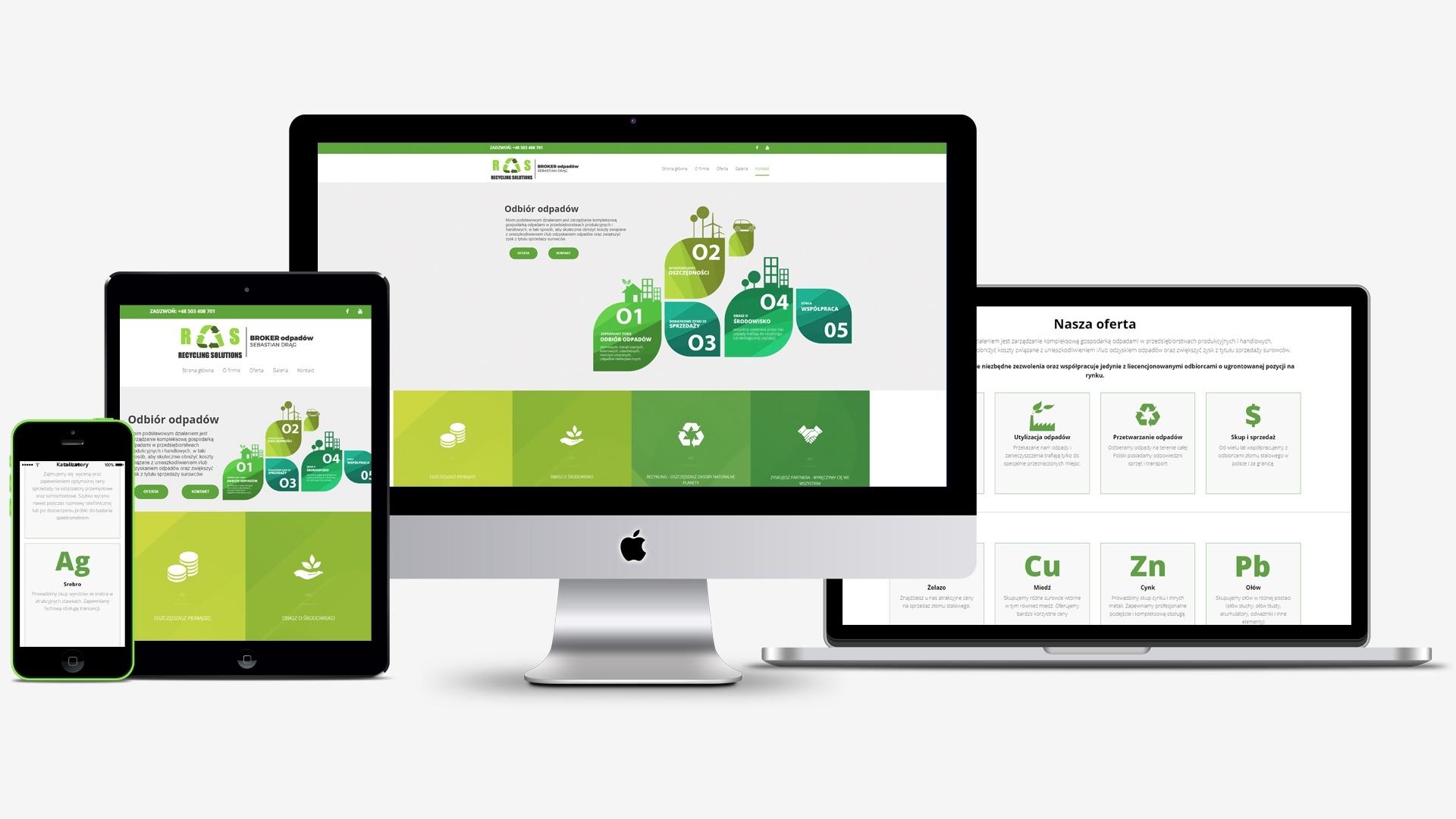Strona internetowa dla Broker odpadów