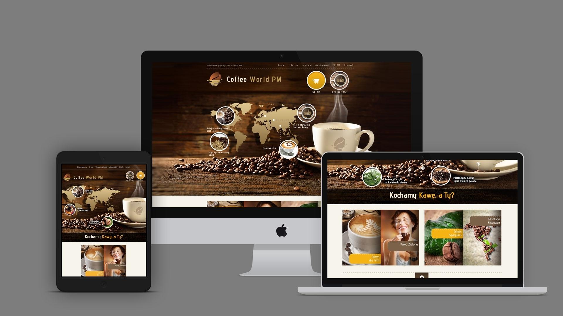 Strona internetowa dla Coffeworld