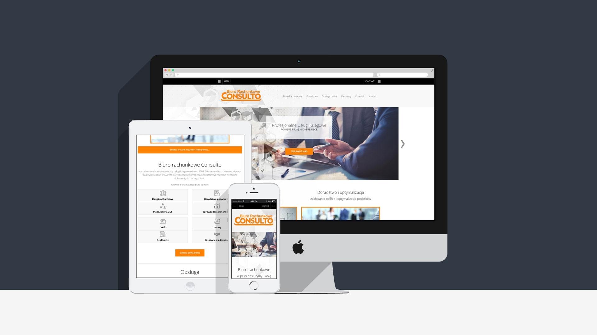 Strona internetowa dla Consulto