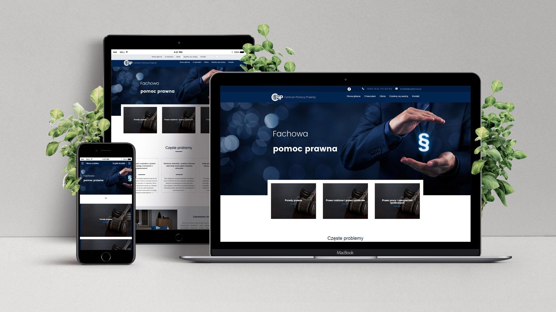 Strona internetowa dla Cpp Tarnów