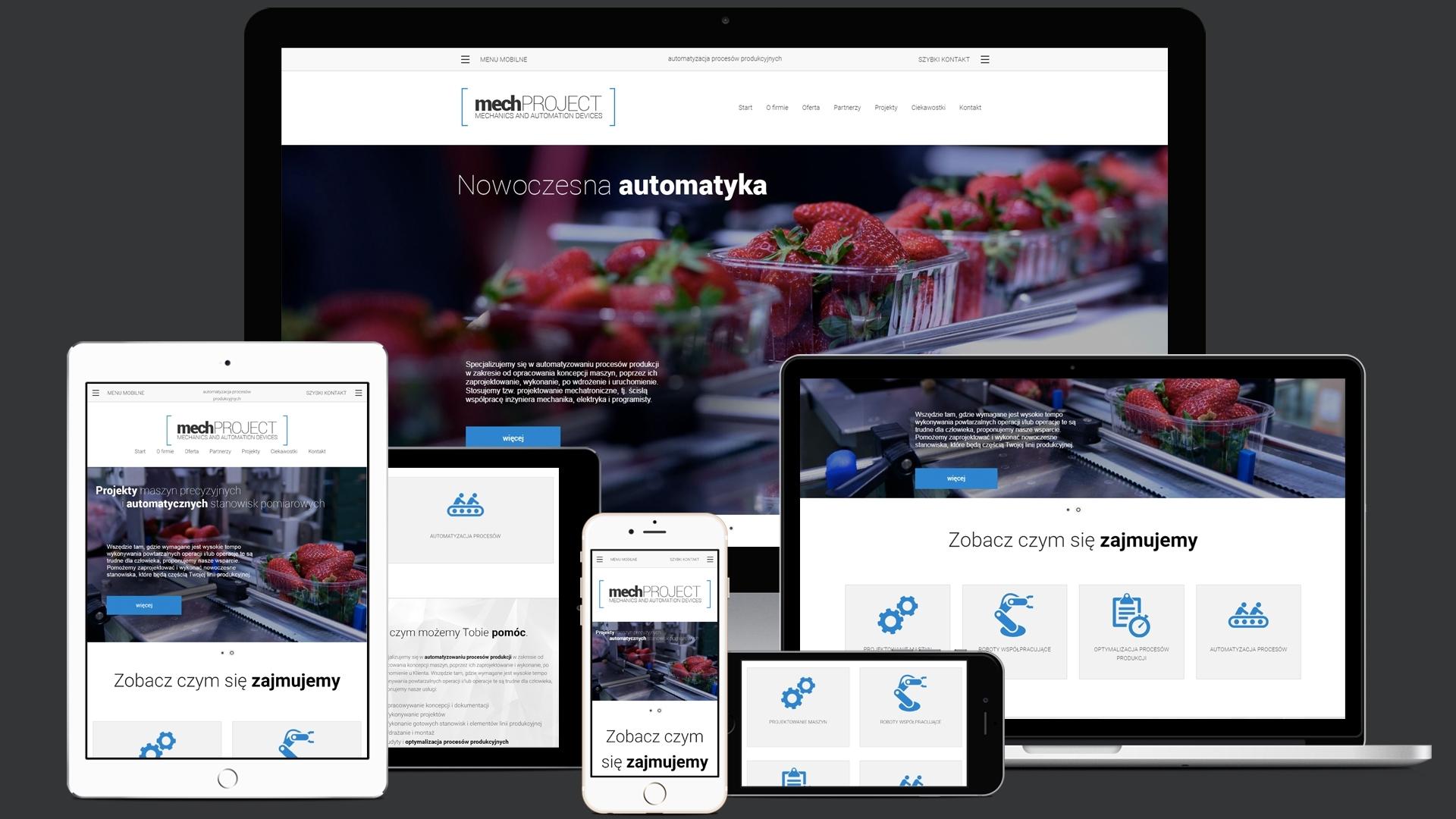 Strona internetowa dla MechProject