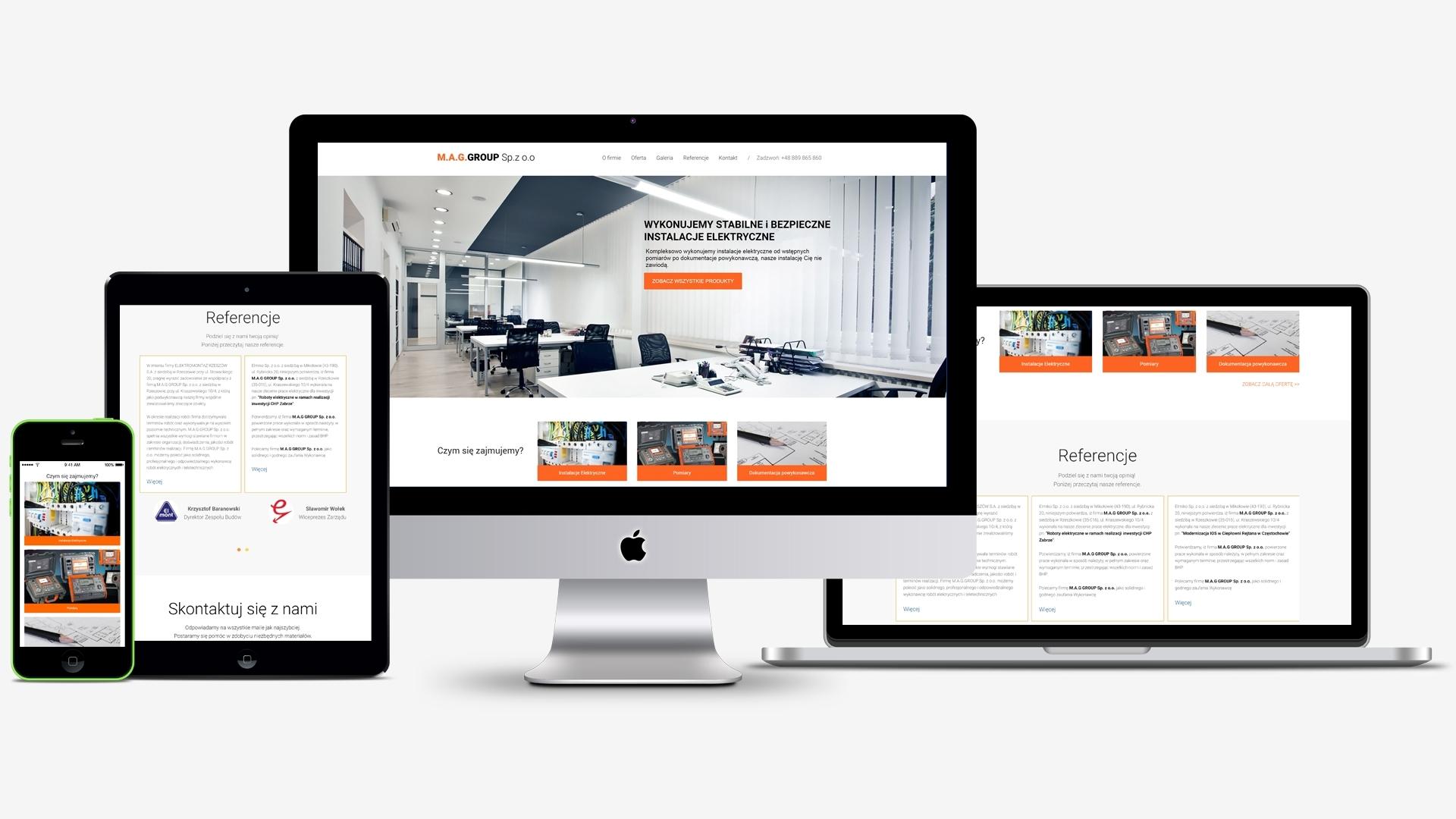 Strona internetowa dla M.A.G GROUP