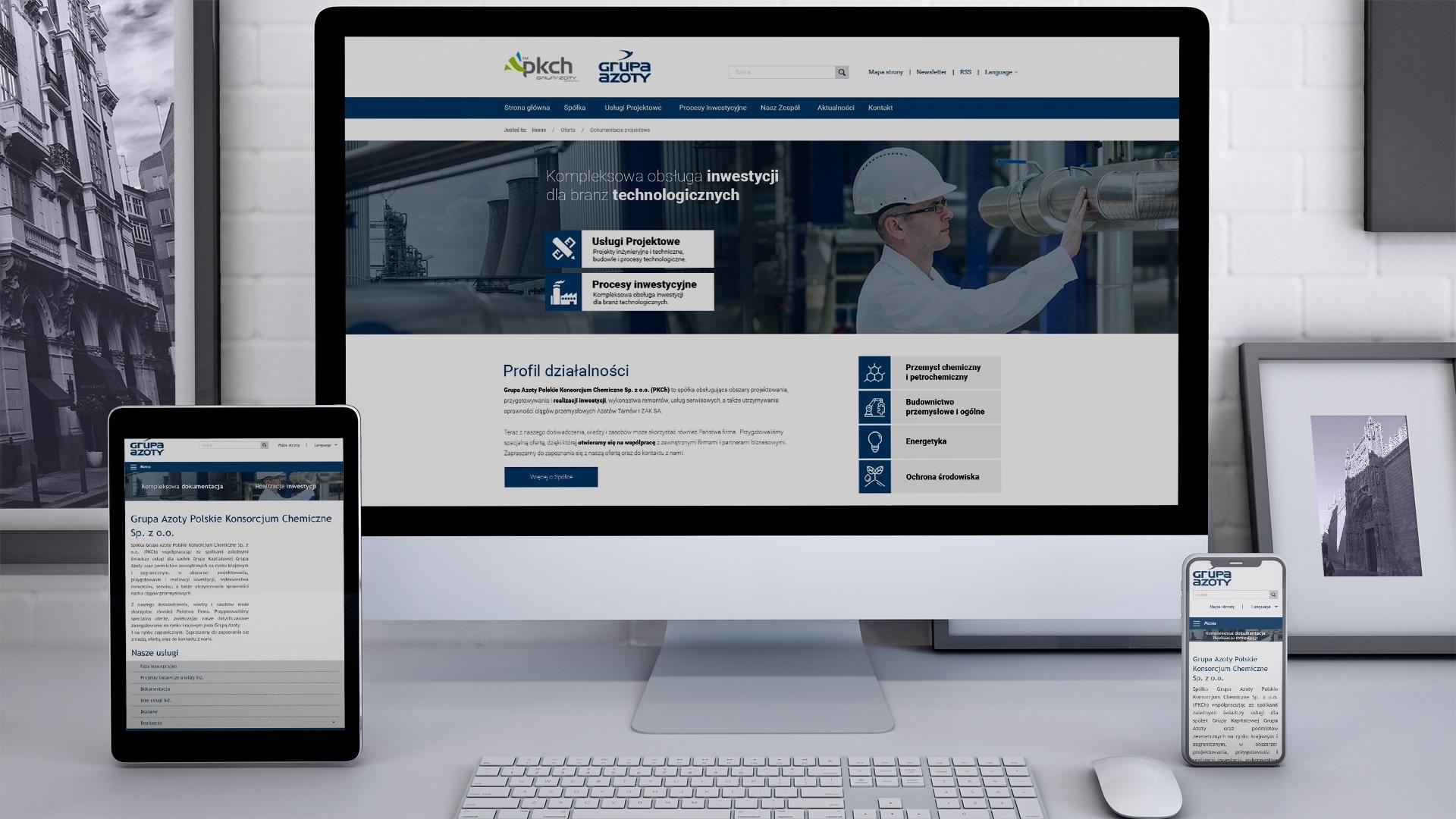 Strona internetowa dla PKCH