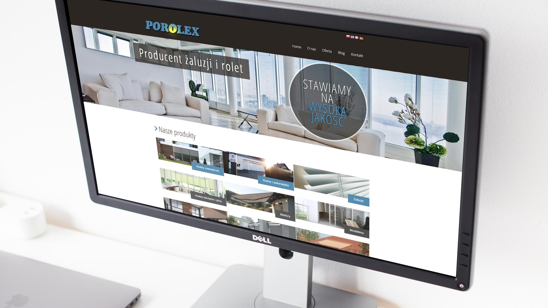 Strona internetowa dla Porlex
