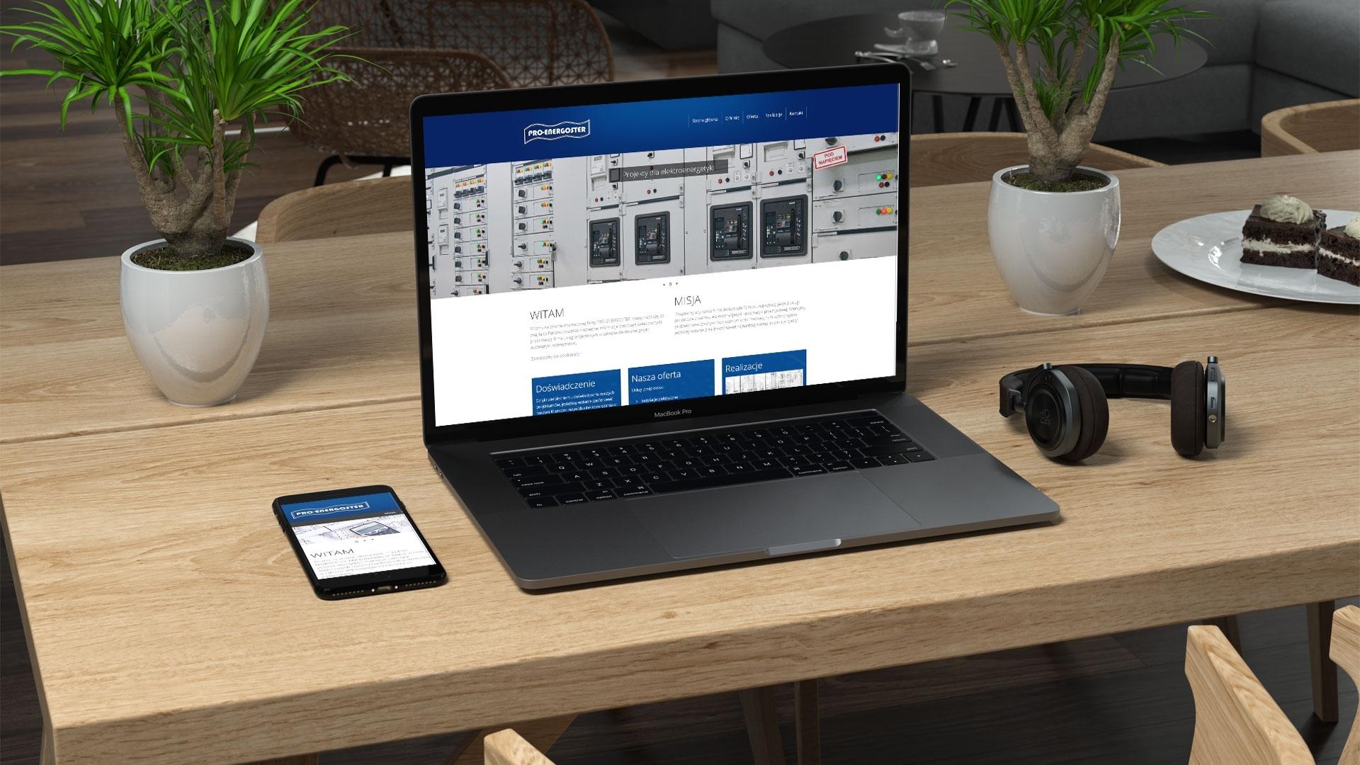 Strona internetowa dla Pro energostar