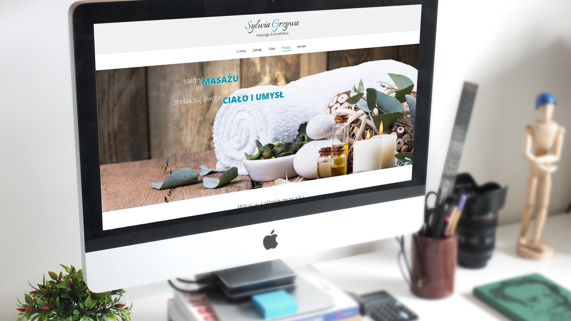 Strona internetowa dla Salon masażu