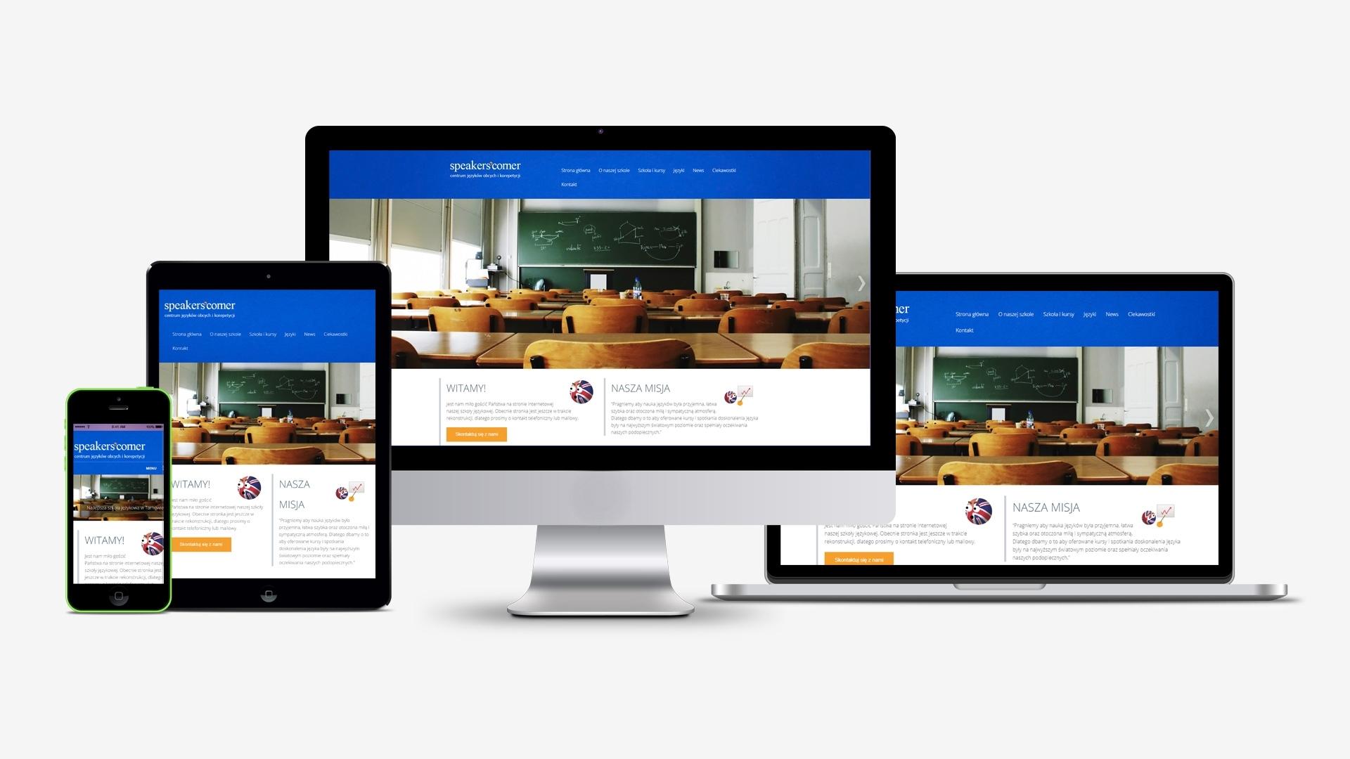 Strona internetowa dla Speakers Corner